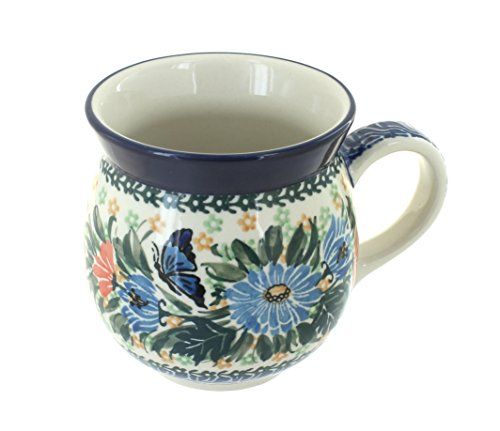 (Blue Rose Polish Pottery Kristina Bell Shape Mug)