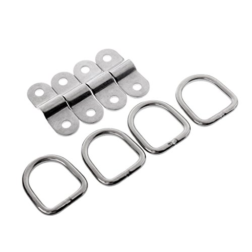 - MonkeyJack 4 Sets Trailer Boat Tie Down/ Anchor Dee Ring & Staple Cleat - Corrosion Resistance 304 Stainless Steel