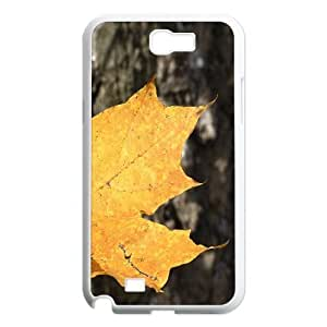 Leaf & Leaves Series, Samsung Galaxy Note 2 Cases, Yellow Leaves Cases for Samsung Galaxy Note 2 [White]