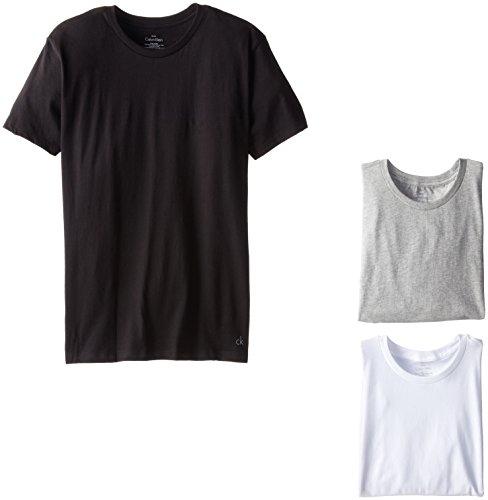 Calvin+Klein+Men%27s+Undershirts+3+Pack+Cotton+Classics+Crew+Neck+T-Shirts%2CMulti%2CLarge