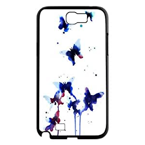 Wholesale beautiful butterfly Case Cover Best For Samsung Galaxy Note 2 Case KJNT-L477497