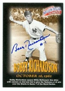 Bobby Richardson Autographed Baseball Card New York Yankees 1997