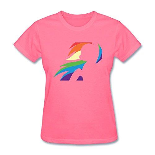 [Tommery Women's My little pony Hasbro Rainbow Dash Costume Design Short Sleeve Cotton T Shirt] (Rainbow Dash Human Costume)