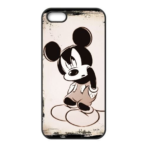 iPhone 5 5s Cell Phone Case Black Disney Mickey Mouse Minnie Mouse tddj