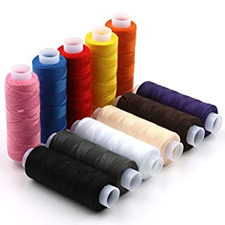 12pcs Different Colors Glow, Cotton Blend Sewing Thread Reels Thread Set DIY Spool, Home Craft All Purpose for Home Embroidery and Sewing Machine