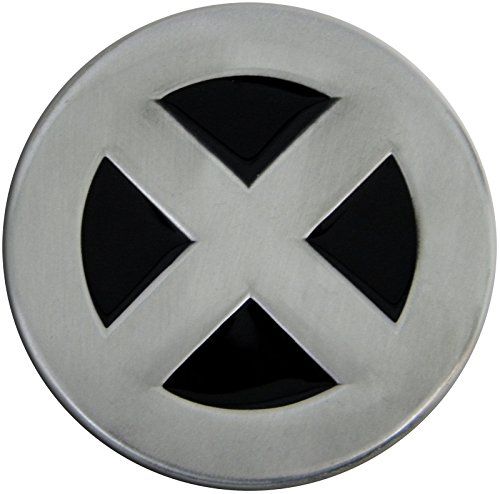 Fun Buckles Unisex-Adult's X-Man Die Cast Pewter Finish Enameled Belt Buckle Silver]()