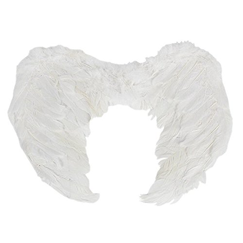PGXT Halloween Party Costumes Feather Angel Wing (White