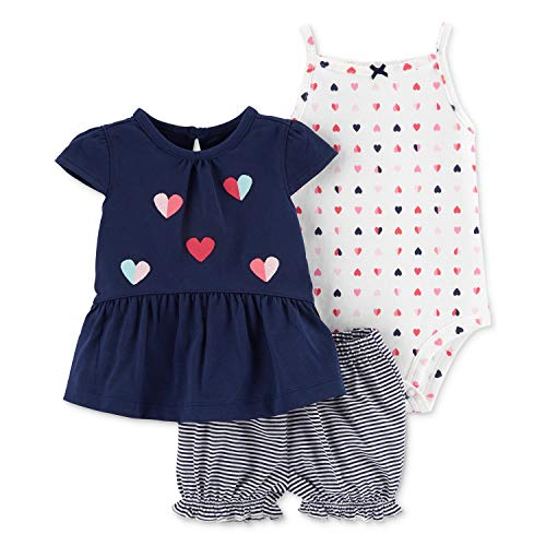 Carter's 3-Piece Heart Little Short Set (9 Months)