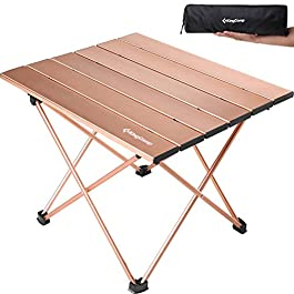 KingCamp Ultralight Compact Sturdy Aluminum Folding Table, for Camping, Beach, Picnic, Garden, Home, Easy to Carry and…