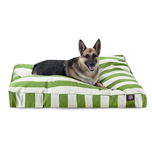 Sage Vertical Stripe Extra Large Rectangle Indoor Outdoor Pet Dog Bed With Removable Washable Cover By Majestic Pet Products by Majestic Pet by Majestic Pet Products, Inc.