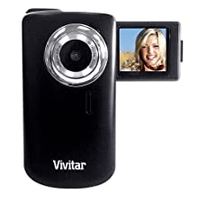 "Vivitar Itwist Dvr610 Digital Camcorder (COLOR BLACK) with 2viewscreen (1.8"" Screen, Flip Screen, 2x Digital Zoom, Watch Videos on Tv)"