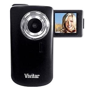 "Vivitar Itwist Dvr610 Digital Camcorder (COLOR BLACK) with 2viewscreen (1.8"" Screen, Flip Screen, 2x Digital Zoom, Watch Videos on Tv)"