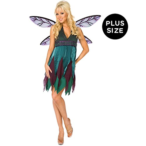 Midnight Dragonfly Costume (Midnight Dragonfly Adult Plus Costume, Plus, Green)