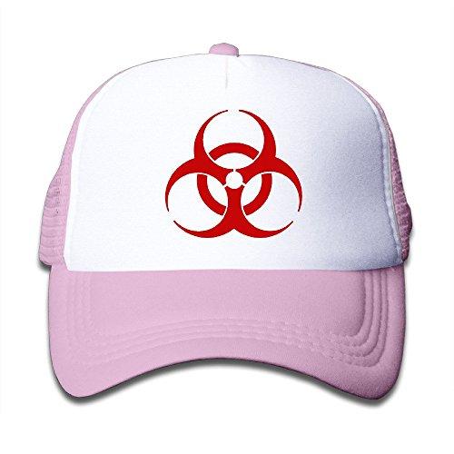 Price comparison product image ROUNG Biohazard Logo Youth Children Girl Boy Kids Baseball Cap Pink