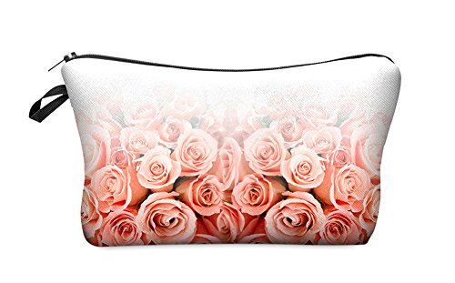 StylesILove Cute Graphic Pouch Travel Case Cosmetic Makeup Bag (Roses Ombre)