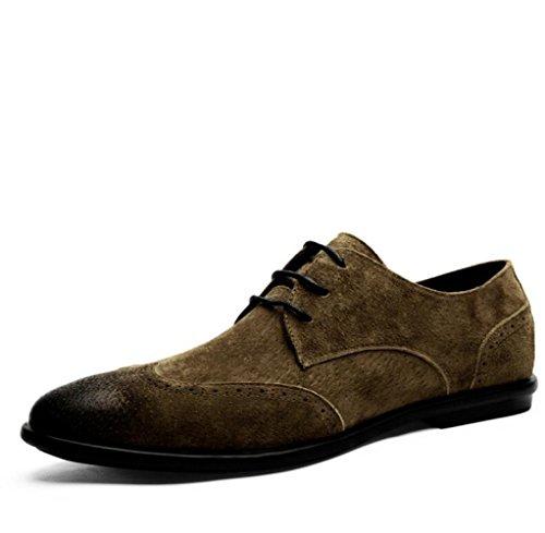 Hommes en Brown Chaussures pour LEDLFIE Cuir ISCx8q4w