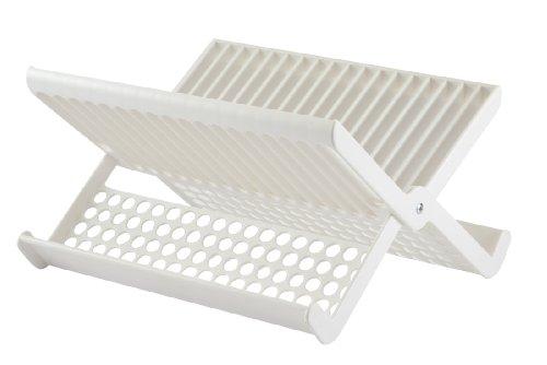 Gourmac Folding Dish Rack, White