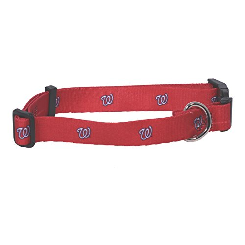 Hunter MFG Washington Nationals Dog Collar, Extra Small