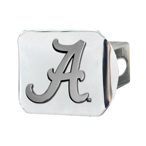 FANMATS  14978  NCAA University of Alabama Crimson Tide Chrome Hitch (Alabama Hitch Cover)