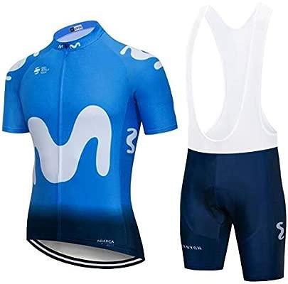 SUHINFE Conjunto Ropa Equipacion, Ciclismo Maillot y Culotte Pantalones Cortos con 5D Gel Pad para Verano Deportes al Aire Libre Ciclo Bicicleta