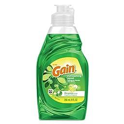 Gain PGC 00253 Dishwashing Liquid, Original Scent, 9 oz. Bottle (Pack of 18)
