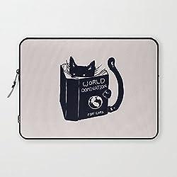 t18ager Laptop Sleeve 25,4cm, resistente al agua mundo Dominación de neopreno para gatos 24,6cm 25,4cm 25,7cm 25,9cm Tablet Laptop Sleeve Case bolsa funda para Apple/iPad/Samsung/Google Nexus/Android Tablet PC portátil, #3