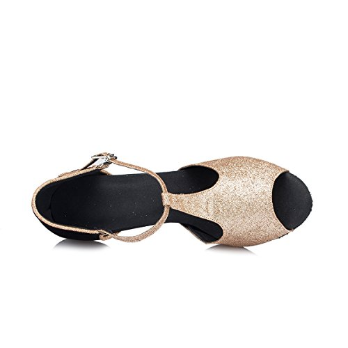 femme Miyoopark Black Salle 5cm bal Heel 8 Gold de Rvwn7xz4v
