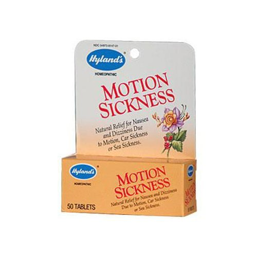 Hylands Motion Sickness 50 Tabs - 2 Packs of Hyland's Motion Sickness - 50 Tablets