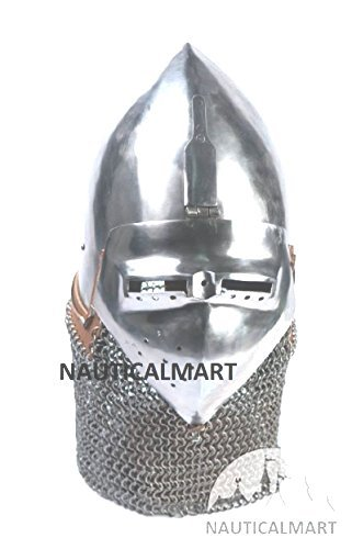 Amazon com: NAUTICALMART Medieval Helmet Klappvisor Bascinet
