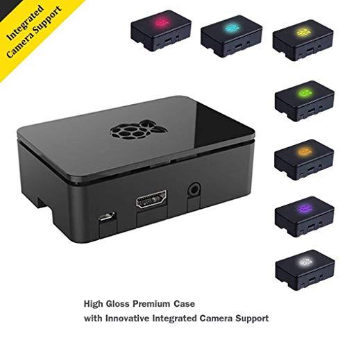 Raspberry Pi 3, Raspberry Pi Model B Kit with Black Case 32GB Micro SD Card With Adapter Set of 2 raspberry pi 3 heatsink by Noza Tec (Image #1)