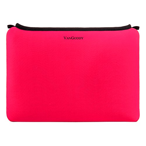 Neoprene Water Resistant Sleeve Cover [Magenta] for HP Slate | ProPad | Omni | Tablets up to 10.25in + Retractable Micro USB Cable ()
