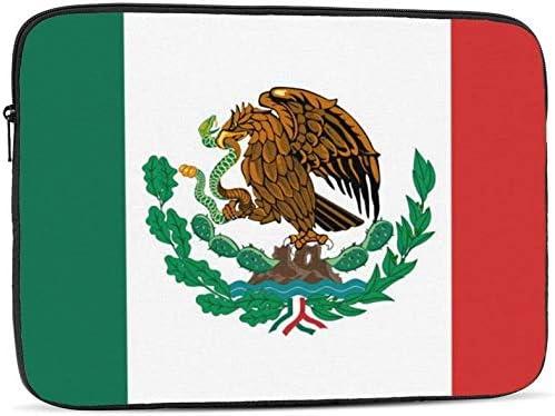 Mexico Flag Zipper Laptop Sleeve Bag Mexico Flag Carring Case Cover Protector Handbag 10 Inch for Notebook