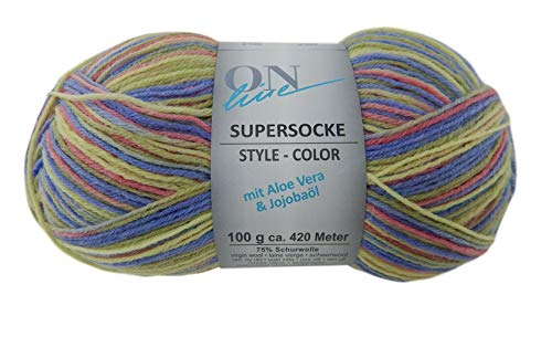 Supersocke Superwash Virgin Wool Blend Yarn 459 Yards 3.5 Ounces #1 Fingering Weight (2196)