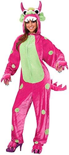 Forum Novelties Women's Monster Costume, Pink/Green, -