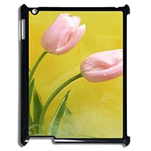 Unique Durable Hard Plastic Case Cover for Ipad2,3,4 - Tulips CM12L5819
