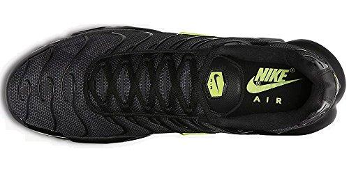 Nike Air Max Plus Se, Scarpe da Ginnastica Uomo Nero (Black/Volt Glow/Wolf Grey 001)
