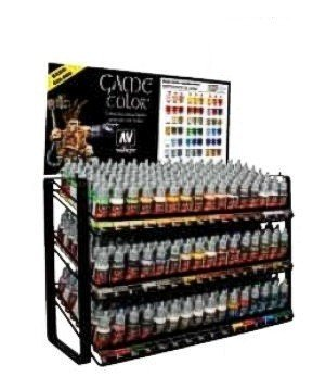 Vallejo Acrylic Paints 1009 Game Color Basic Range Paint Deal With Rack
