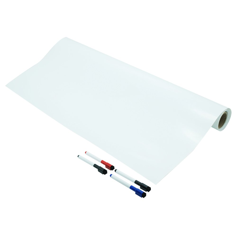 Lockways Dry Erase Whiteboard Film - Dry Erase Self-Adhesive Wall Decal Sticker 25 x 4, 300 x 48 Inch Whiteboard Stick Sheet for Classroom Home Office