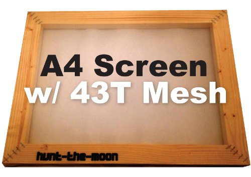 A4 Silk Screen Frame 43T mesh - textiles printing print screenprinting Hunt-The-Moon