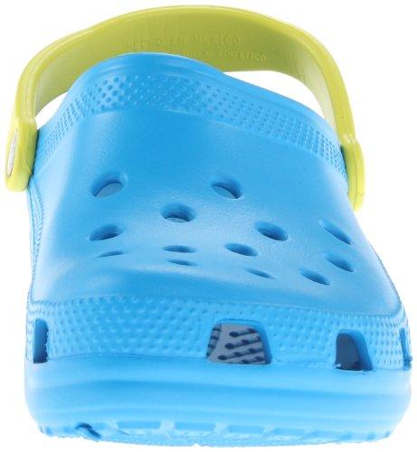 Crocs Classic, Zuecos Unisex Adulto Azul (Ocean/Citrus)