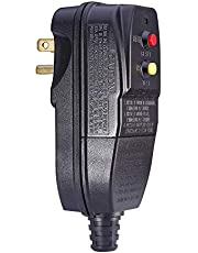 GFCI Replacement Plug for Pressure Washer Pool Pump 15Amp 3 Prong Circuit Breaker Outdoor Waterproof Auto-reset 120V