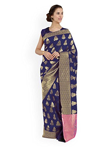 Saree Design 555 Art Banarasi Blue Silk Woven Chhabra TPRqn0wZP