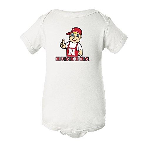 Nebraska Cornhuskers Football Toddler Lil' Red Huskers Blocks Onesie - White - 12M ()