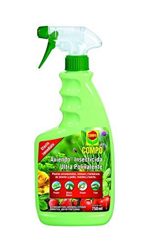 Compo Axiendo insecticida polivalente, Para plantas de interior y exterior, Efecto duradero, Envase pulverizador, 750 ml
