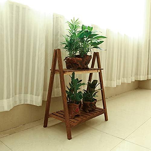 SBS Soporte De Flores Estante Estantería Escalera Estantería Decorativas De Plantas Flores para Decoración Exterior Interior Jardín Expositor Madera Doblado,Woodcolor-60 * 50 * 28: Amazon.es: Hogar