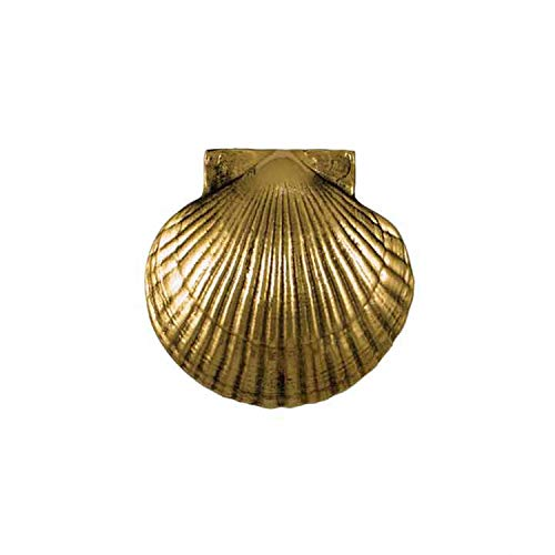 Scallop Door Knocker - Brass (Standard Size)