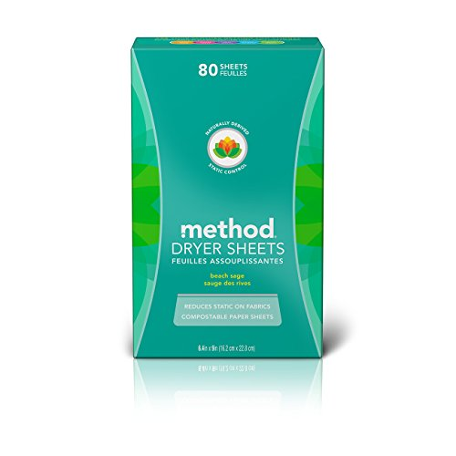 Method Dryer Sheets, Beach Sage, 80 Sheets (6 Count) ()