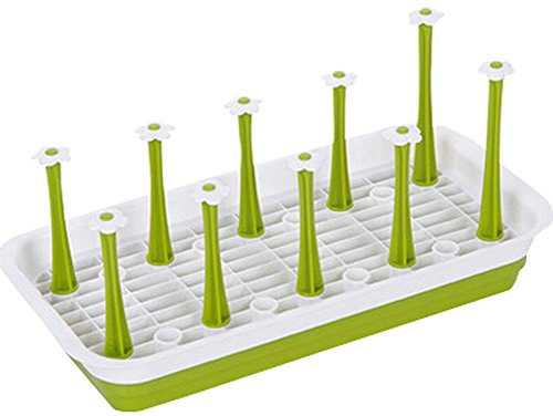 Plastic Dish Rack Kitchen Compartment Tray Tea Cup Rack Sink