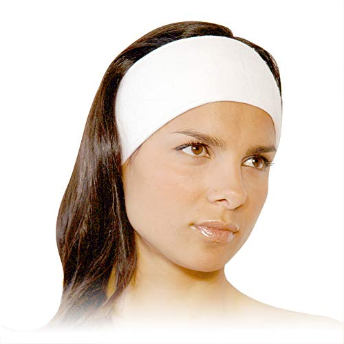 Stretch Cotton Terry Spa Headband - APPEARUS Head Wrap Terry Cloth Towel Facial Headbands with Closure for Bath, Makeup and Sport (4 Count)