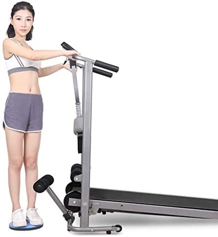 ZANFUN 4-in-1 Foldable Treadmill with Incline for Home Gym Exercise Equipment Portable Small Treadmill for Walking Running Supine Twisting Massage Weight Loss Fitness Treadmills for Small Spaces 3